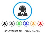 dispatcher vector rounded icon. ... | Shutterstock .eps vector #703276783
