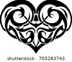 heart art tattoo | Shutterstock .eps vector #703283743