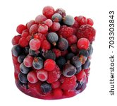 frozen black and red currant... | Shutterstock . vector #703303843