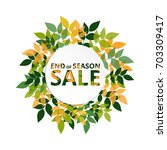 summer  autumn season sale... | Shutterstock .eps vector #703309417