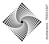 rhombus logo design. vector... | Shutterstock .eps vector #703311367