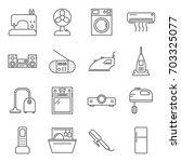simple set of appliances... | Shutterstock .eps vector #703325077