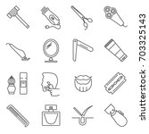 simple set of shave related... | Shutterstock .eps vector #703325143