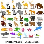 extra large set of animals... | Shutterstock .eps vector #70332808
