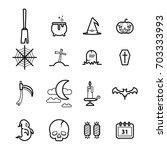 set of  halloween festival...   Shutterstock .eps vector #703333993