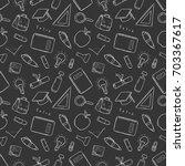 black and white seamless... | Shutterstock .eps vector #703367617