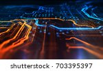orange and blue technology... | Shutterstock . vector #703395397