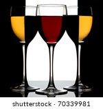 Three Wine Glass With Red And...