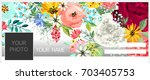 autumn background with flowers | Shutterstock .eps vector #703405753