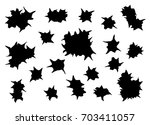 bullet holes silhouette   Shutterstock .eps vector #703411057