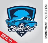 classic car logo template | Shutterstock .eps vector #703411123