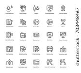 finance line icons 6 | Shutterstock .eps vector #703448467