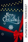 merry christmas and new year... | Shutterstock .eps vector #703450327