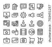 web design line vector icons 3