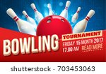 bowling realistic theme eps 10  ... | Shutterstock .eps vector #703453063
