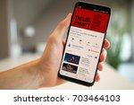 lendelede belgium august 26th... | Shutterstock . vector #703464103