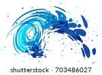 splash water on white background | Shutterstock .eps vector #703486027