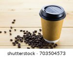 paper cup coffee to go and... | Shutterstock . vector #703504573