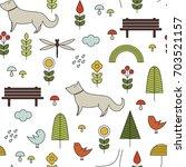 pattern in scandinavian style.... | Shutterstock . vector #703521157