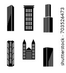 vector set of modern buildings