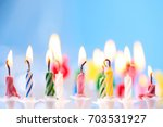 birthday candles | Shutterstock . vector #703531927