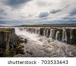 amazing nature of selfoss ... | Shutterstock . vector #703533643