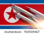 the rocket to launch. the flag...   Shutterstock . vector #703535467