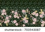 simple cute trendy pattern in... | Shutterstock . vector #703543087