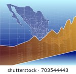 the mexico finance and economy  ... | Shutterstock .eps vector #703544443