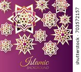 islamic background template... | Shutterstock .eps vector #703572157