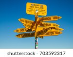 road sign  bluff | Shutterstock . vector #703592317