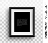 photo frame a4  a3. format... | Shutterstock .eps vector #703603237
