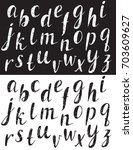hand drawn comic font. black... | Shutterstock .eps vector #703609627