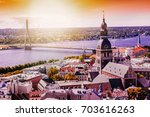 panorama view from riga... | Shutterstock . vector #703616263