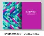 invitation card modern colorful ... | Shutterstock .eps vector #703627267
