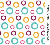abstract circles  seamless... | Shutterstock .eps vector #703629337