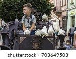 chernivtsy  ukraine   august... | Shutterstock . vector #703649503