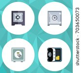 flat icon strongbox set of... | Shutterstock .eps vector #703650073