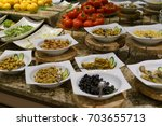salad bar | Shutterstock . vector #703655713