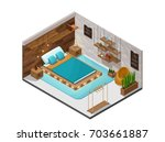 bedroom isometric infographic...   Shutterstock .eps vector #703661887