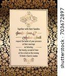 vintage baroque style wedding... | Shutterstock . vector #703672897