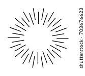 sun rays hand drawn   Shutterstock .eps vector #703676623