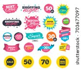 sale shopping banners. sale... | Shutterstock .eps vector #703677097