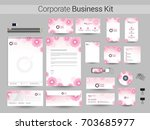 corporate identity  business... | Shutterstock .eps vector #703685977