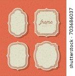 orange background with zigzag... | Shutterstock .eps vector #703686037