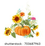 horizontal autumn border ...