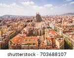 sagrada familia cathedral and... | Shutterstock . vector #703688107