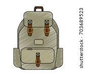 camping backpack   Shutterstock .eps vector #703689523