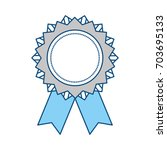 award ribbon symbol | Shutterstock .eps vector #703695133