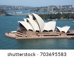 sydney opera house crowds and... | Shutterstock . vector #703695583